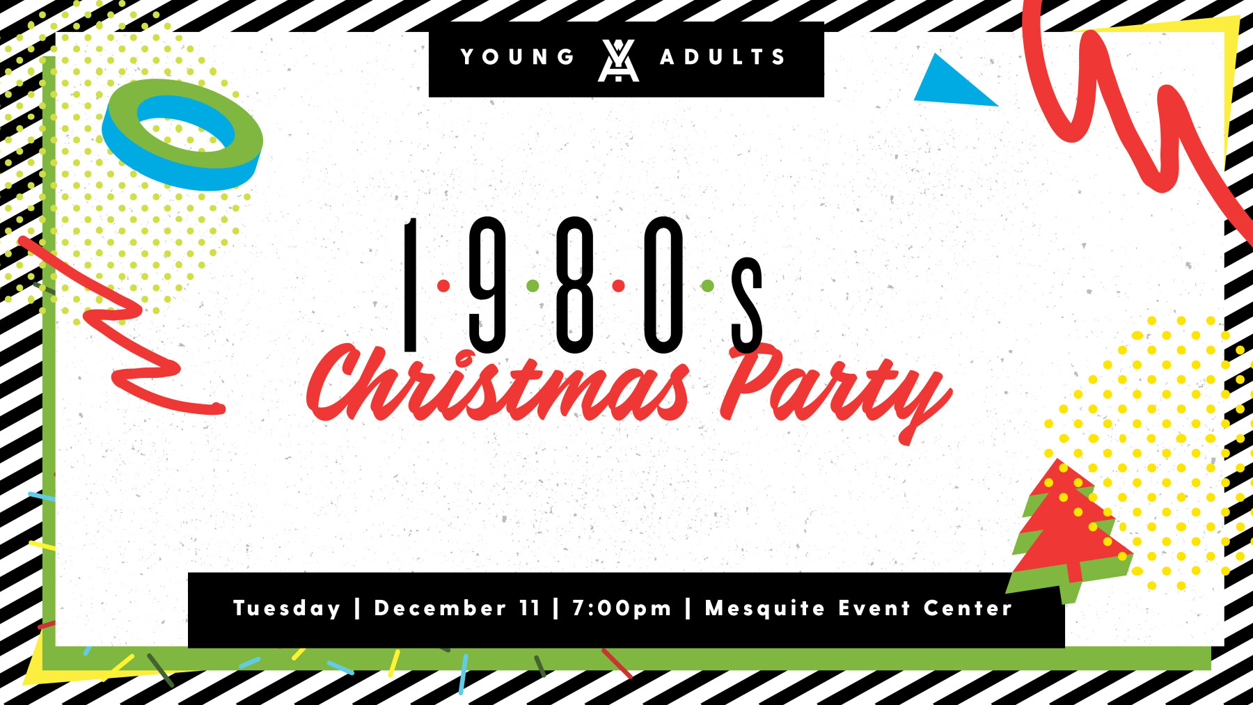 Young Adults 1980's Christmas Themed Party