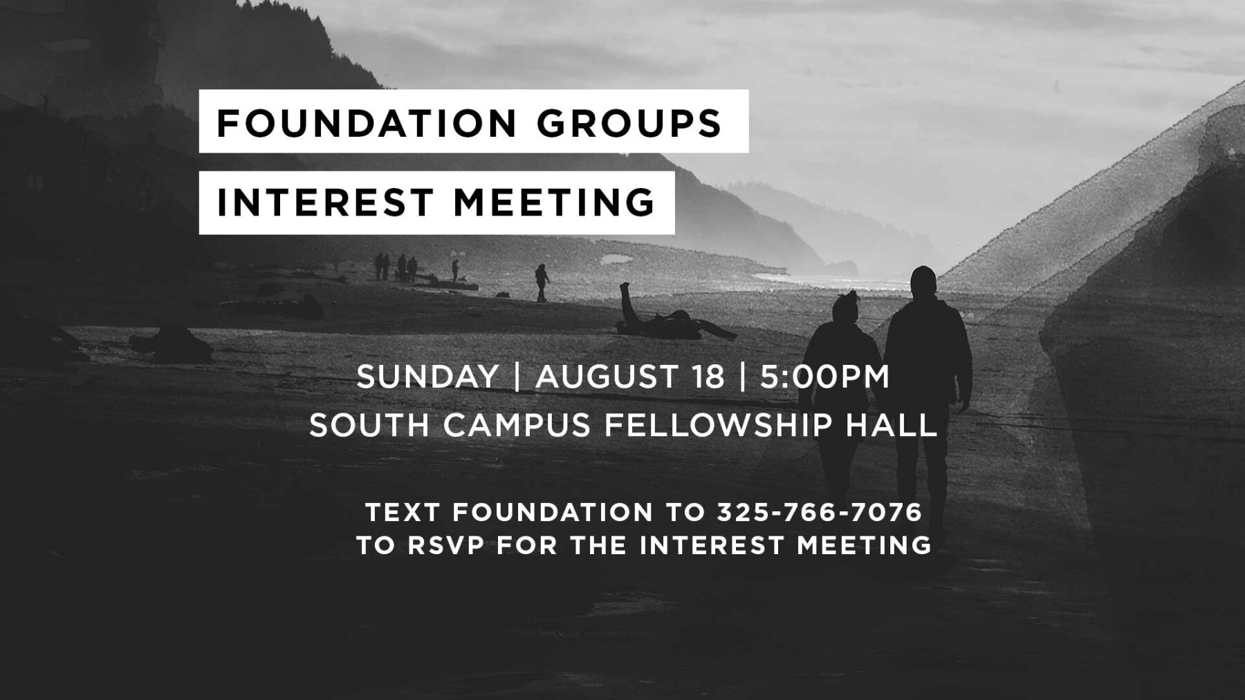 Foundation Groups Interest Meeting