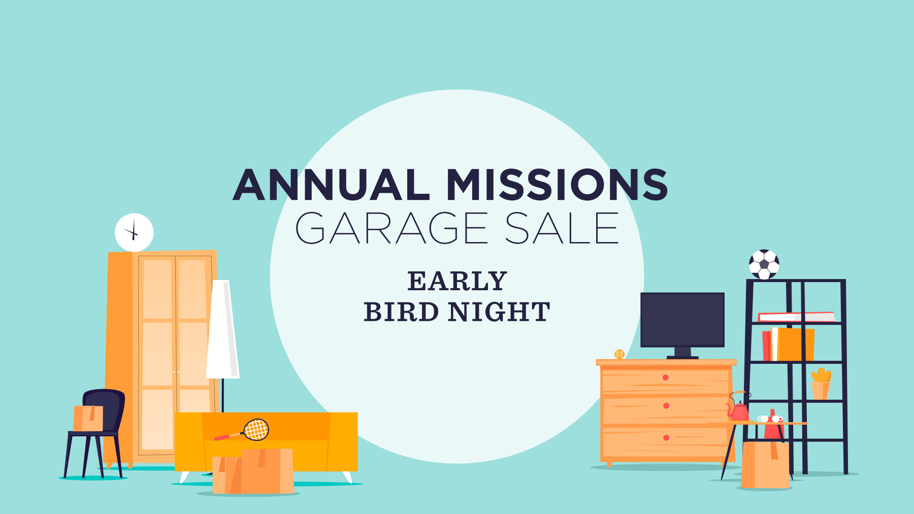 Beltway Missions Garage Sale THURSDAY