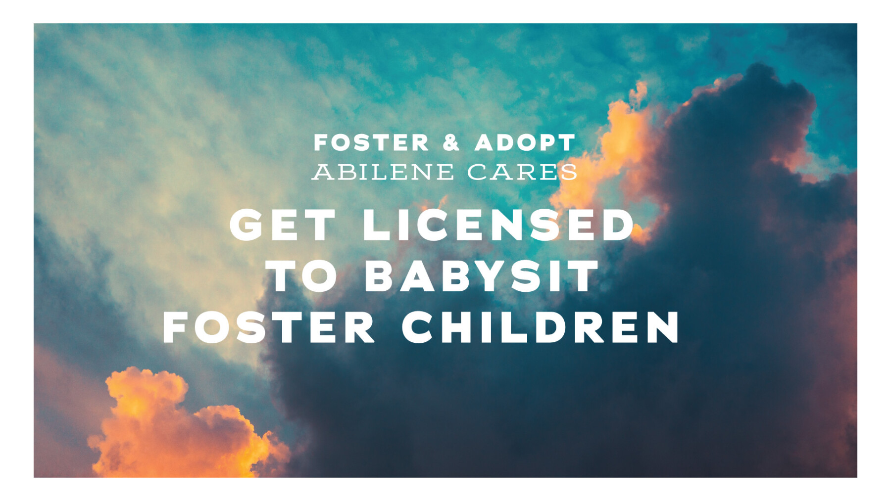 Babysit for Foster Families